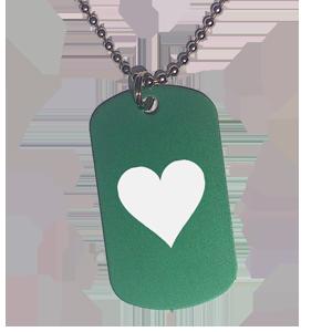 Placa Verde Corazón