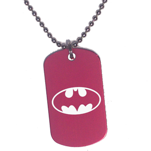 Placa Roja Batman