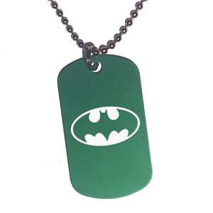 Placa Verde Batman