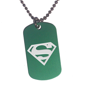 Placa Verde Superman