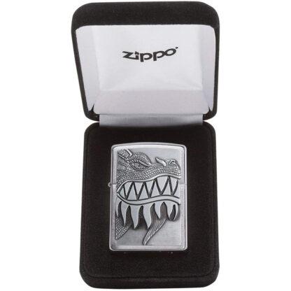 Zippo Dragon Dientes Caja Coleccion